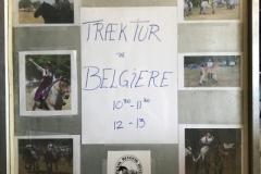 Skiltets anden side, hvor alle kunne se villeder af belgier hestene